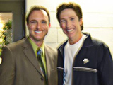 Noah St. John with Joel Osteen
